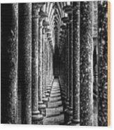 Mont St Michel Pillars Wood Print