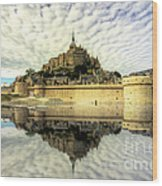 Mont St Michel Wood Print