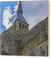 Mont St Michel Tower Wood Print