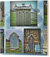 Montage Of Outhouses Wood Print