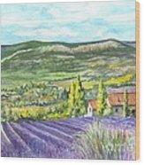 Montagne De Lure In Provence France Wood Print
