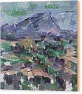 Montagne Sainte-victoire Wood Print