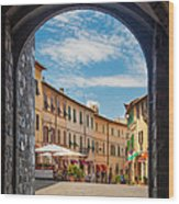 Montalcino Loggia Wood Print
