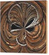 Montana Barn Orb Wood Print