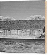 Montana Building Wood Print