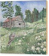 Montana Cabin Wood Print