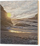 Montana De Oro Sunset II Wood Print