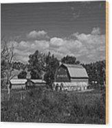Montana Farm Wood Print