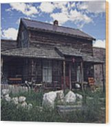Montana Home 2 Wood Print