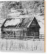 Montana Mountain View Wood Print