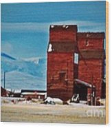 Montana Mountaintown Wood Print