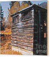 Montana Outhouse 03 Wood Print