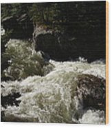Montana River Rapids Wood Print by Yvette Pichette