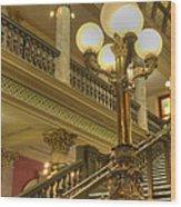 Montana State Capitol Wood Print