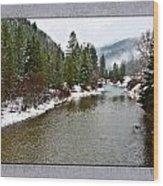 Montana Winter Frame Wood Print