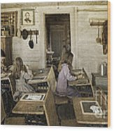 Montana's Oldest Standing Schoolhouse Wood Print
