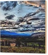 Montanta Sunset Wood Print