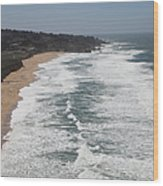 Montara State Beach Pacific Coast Highway California 5d22622 Wood Print by Wingsdomain Art and Photography