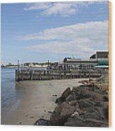 Montauk Port Long Island Wood Print