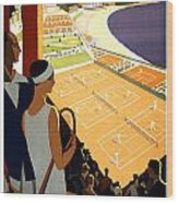 Monte-carlo - Travel Poster For Plm - 1930 Wood Print