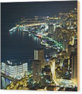 Monte Carlo By Night  Wood Print