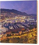 Monte Carlo Harbor  Wood Print