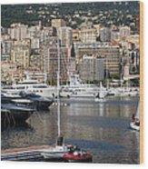 Monte Carlo Sailing - Monaco French Riviera Wood Print