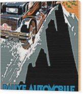 Monte Carlo - Vintage Poster Wood Print