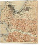 Monterey And Carmel Valley  Monterey Peninsula California  1912 Wood Print