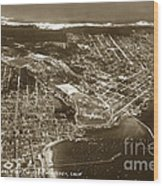 Aerial Of Monterey And Pacific Grove  California Oct. 25 1934 Wood Print