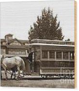 Monterey And Pacific Grove Street Railway Circa 1895 Wood Print