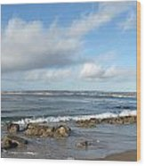Monterey Bay Beach Scenic View Wood Print