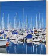 Monterey Bay Yacht Club 19704 Wood Print