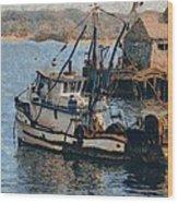 Monterey Fish Company Abstract Wood Print