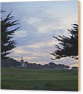 Monterey Golf Course Wood Print