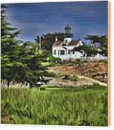 Monterey Lighthouse Wood Print