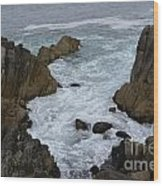 Monterey Rocks - California Wood Print