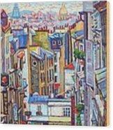 Montmartre View Wood Print