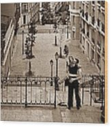 Montmartre Moment Wood Print