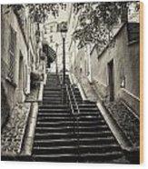 Montmartre Mono 01 Wood Print