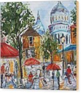Montmartre Paris Wood Print