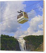 Montmorency Falls And Gondola Wood Print