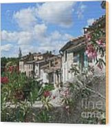 French Hilltop Terraces Wood Print by France  Art