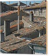 Tile Rooftops Of France Wood Print