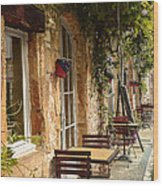 French Cafe Wood Print