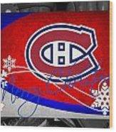 Montreal Canadiens Christmas Wood Print