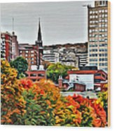Montreal City Colors Wood Print