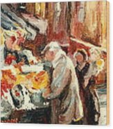 Montreal Market Scene Marche Atwater Wood Print
