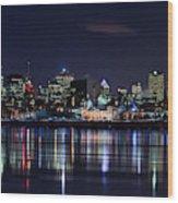 Montreal Night Wood Print