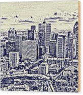 Montreal Skyline From Mount Royal Two Wood Print by Jo Ann